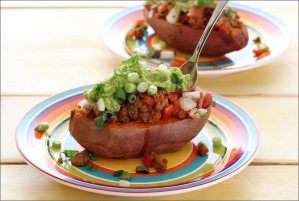 easy paleo recipe for a taco filling sweet potato