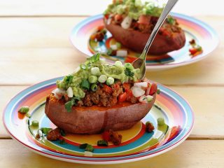 Easy Taco-Topped Sweet Potato
