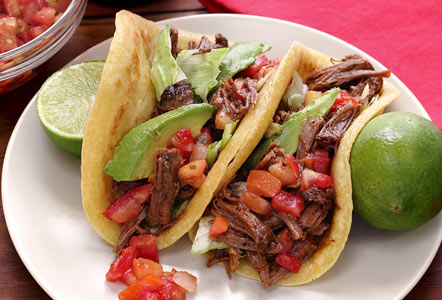 Slow-Cooked Spicy Shredded Beef Tacos Recipe