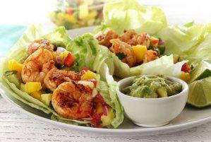 easy paleo recipe for shrimp wraps with salsa