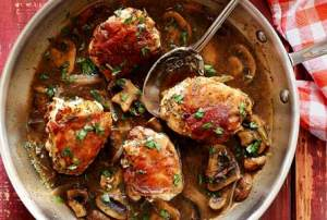 easy paleo recipe for prosciutto chicken with mushrooms