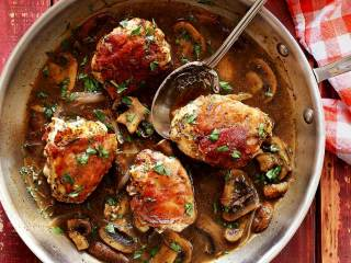 Prosciutto-Wrapped Chicken with Marsala Mushroom Sauce