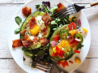 Avocado Baked Eggs Paleo Breakfast Recipe