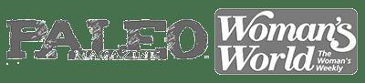paleo magazine/woman's world media logos