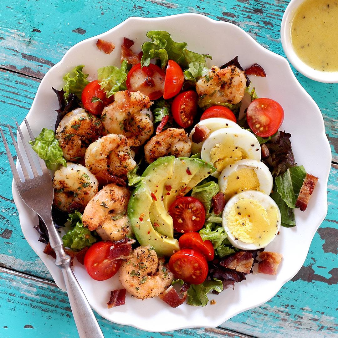 paleo shrimp cobb salad recipe