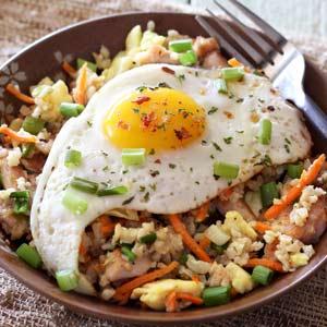 Easy Paleo Chicken Fried Rice Bowl Recipe
