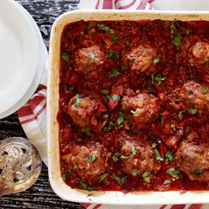 easy paleo meatball recipe with adobo/tomato sauce