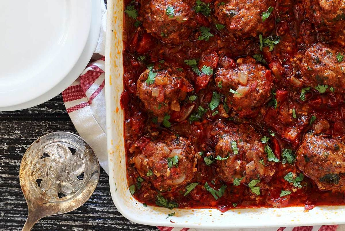easy paleo meatball recipe with adobo tomato sauce