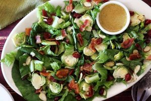 paleo recipe for brussels sprouts salad with lemon dressing