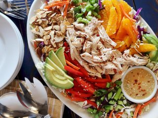 Paleo Asian Chicken Salad with Creamy Sesame Dressing