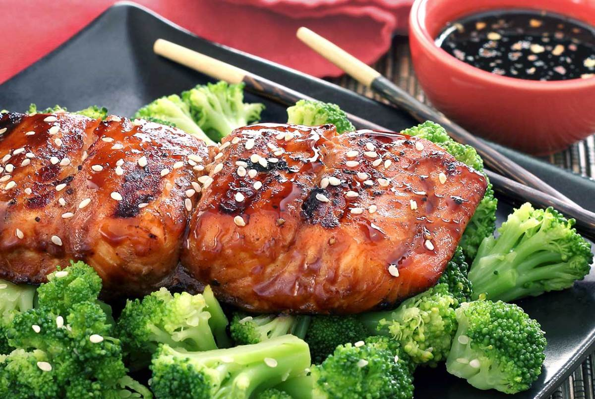 paleo grilled teriyaki salmon recipe
