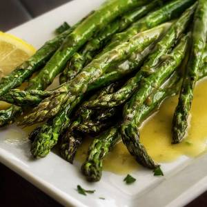 lemon vinaigrette recipe with grilled asparagus
