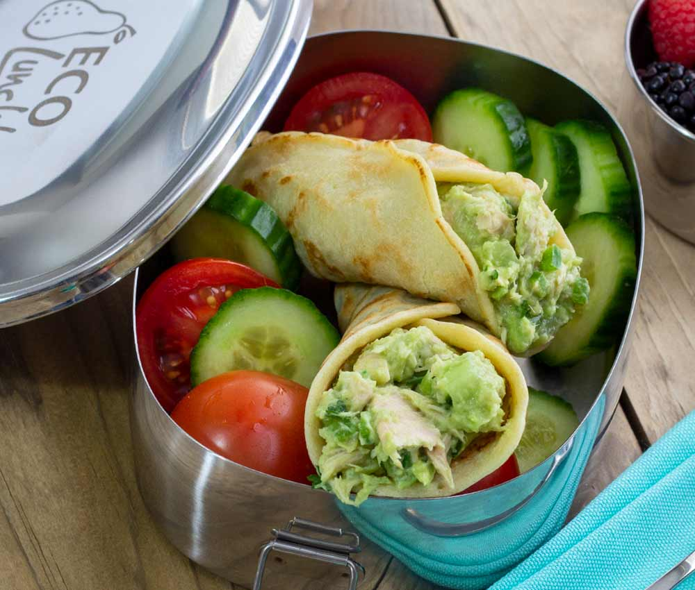 easy paleo and gluten-free tuna-wrap in a paleo-approved tortilla wrap