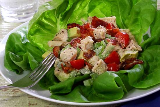 quick and easy paleo salad featuring pre-cooked chicken