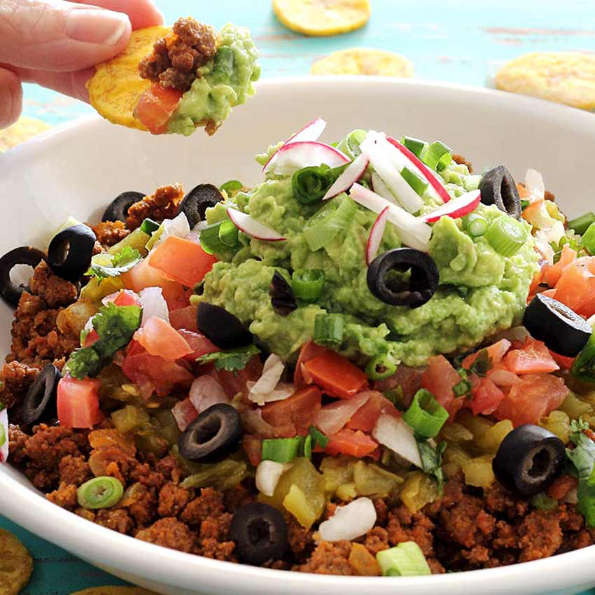 simple paleo and gluten-free Mexican dip recipe