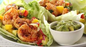 easy paleo and gluten-free recipe for grilled shrimp wraps