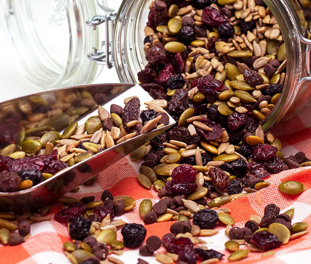 a healthy trail mix without nuts