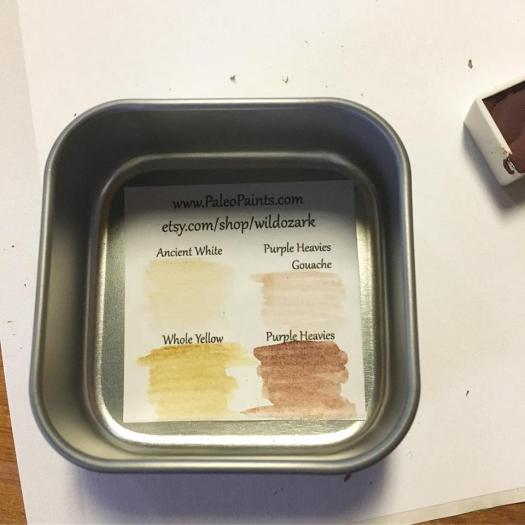 The paint swatch 'map' that goes inside the collection.