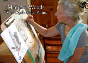 Madison Woods at the easel.