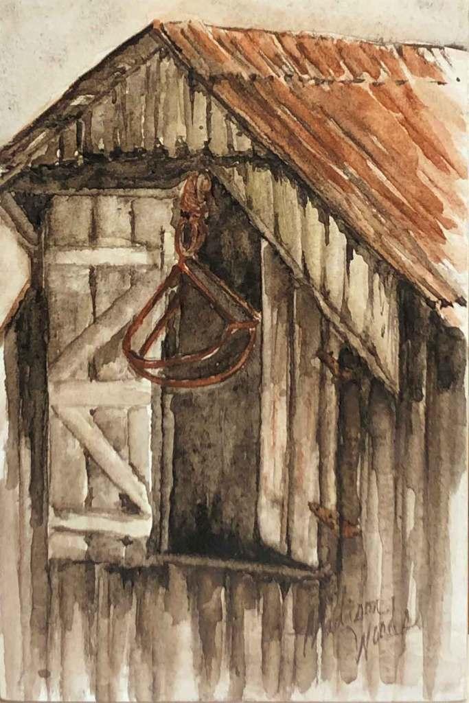Original art by Madison Woods, Hay Loft Doors