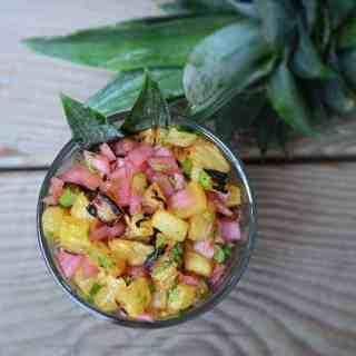 Roasted Pineapple and Pickled Red Onion Salsa