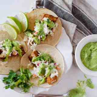 Spicy Fish Tacos with Jalapeno-Lime Slaw
