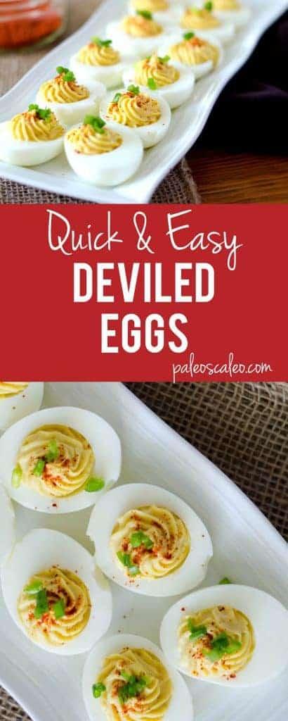Quick & Easy Deviled Eggs | PaleoScaleo.com