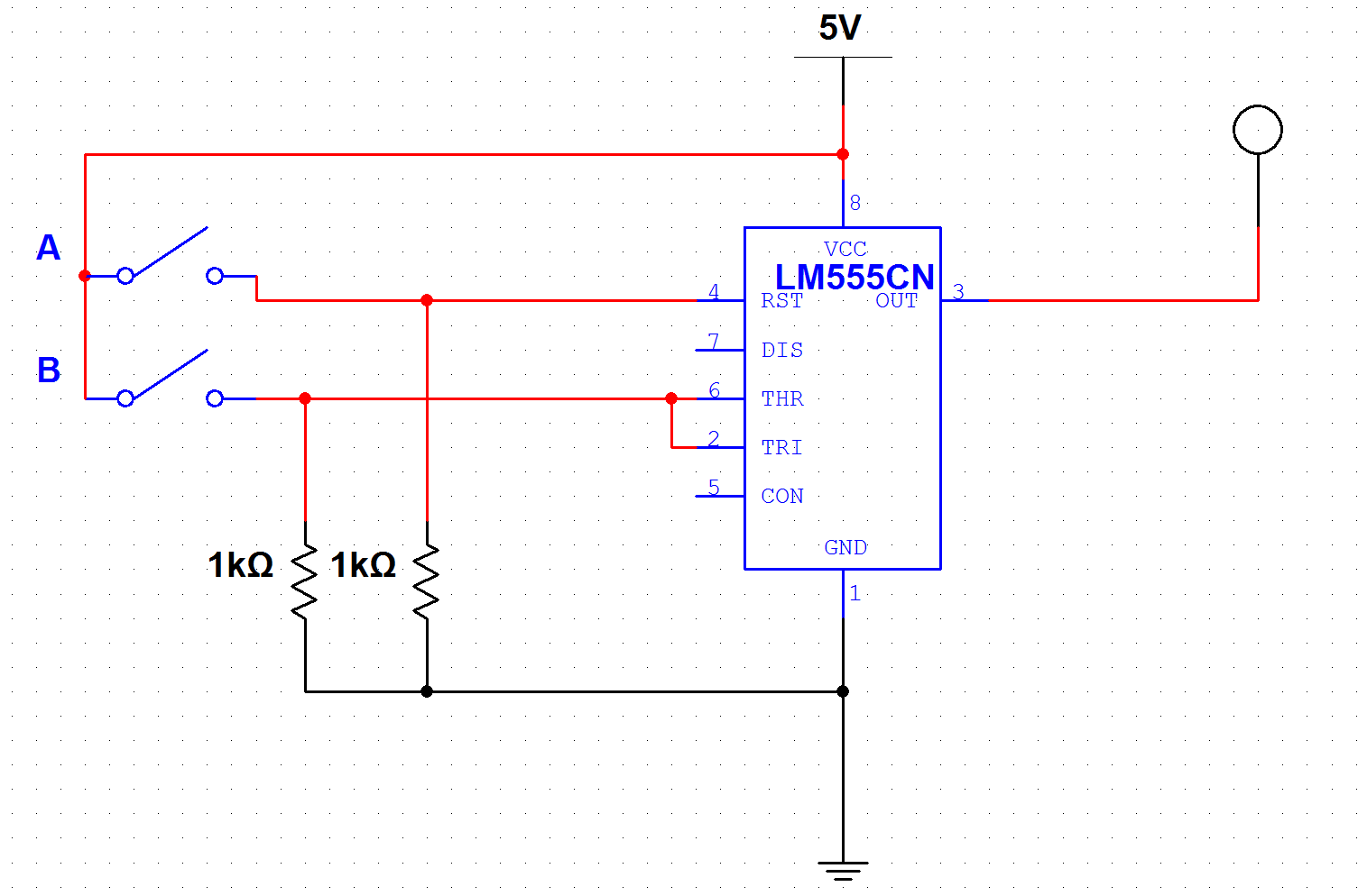 hight resolution of implementing the a and not b gate