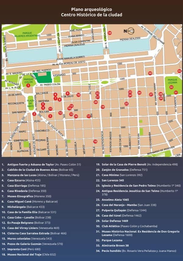 Sitios arqueológicos en la ciudad de Buenos Aires