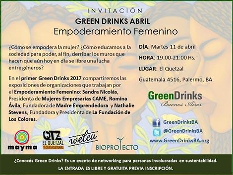 """El """"Empoderamiento Femenino"""" es el tema de la nueva edición del Green Drinks"""