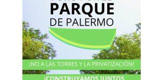 el Foro por el Parque de Palermo, proponen crear en el predio un parque diseñado en forma participativa.