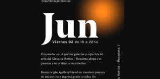 Viernes 2 de junio Gallery Nights Retiro/Recoleta