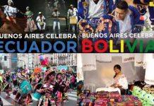 Buenos Aires Celebra a Ecuador y a Bolivia este fin de semana