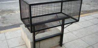 Se solicita a los vecinos retirar los antiguos canastos de basura BASURA