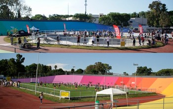Inauguración de un Parque Deportivo en el predio del ex Velódromo
