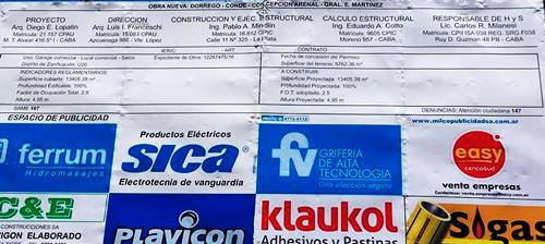 Cartel de Obra Plaza Clemente