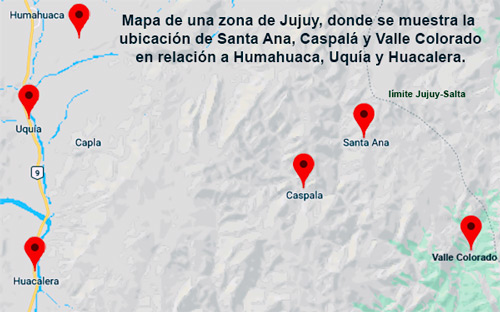Mapa Jujuy Altos Valles