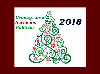 Cronograma de Servicios Publicos 24 y 25 de diciembre 2018