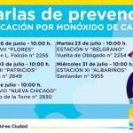 Campaña de los bomberos de prevención de accidentes por monóxido de carbono