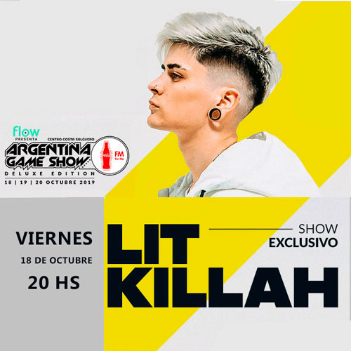 Lit Killa en concierto exclusivo en ArGameShowForMe