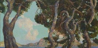 Obra Pinos de Formentor (Mallorca) de Gregorio López Naguil (Museo Benito Quinquela Martín (CABA))