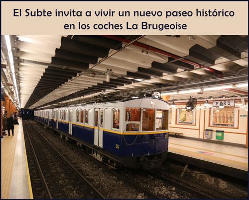 Paseo histórico en los coches La Brugeoise en la Noche de los Museos