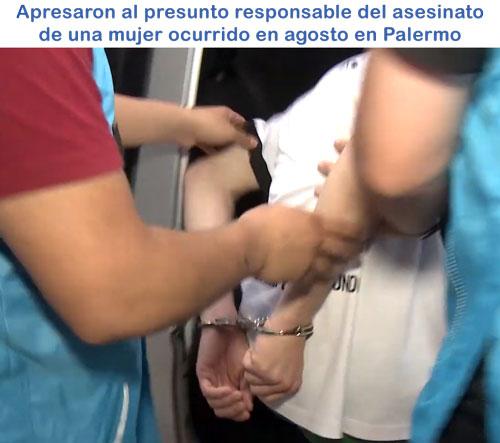 Capturaron al acusado de asesinar a una mujer en Palermo en agosto/19