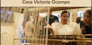 Artesanías en fibra de ananá y seda filipina en exposición en la CVO