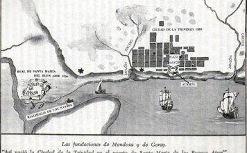 Ciudad de la Trinidad en el puerto de Santa María de los Buenos Aires.