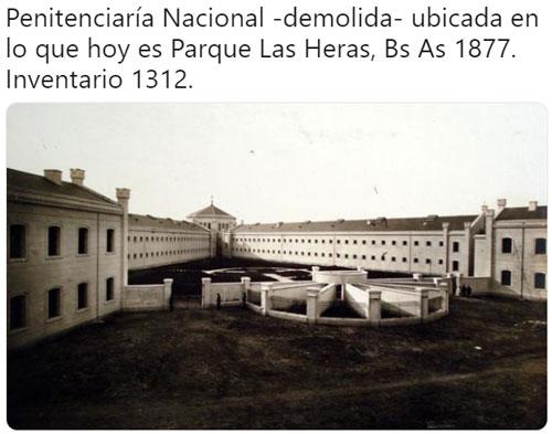 Penitenciaria en el Parque Las Heras