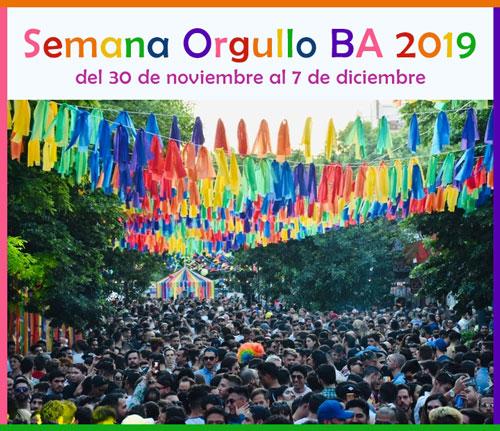 Semana Orgullo BA en la Ciudad - 30 de noviembre al 7 de diciembre 2019