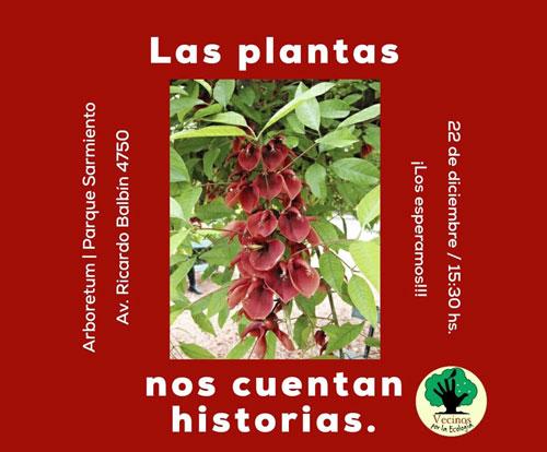 """""""Las Plantas nos cuentan historias"""" en el Parque Sarmiento el 22/12"""