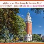 Visitas a los Miradores de Buenos Aires en febrero 2020