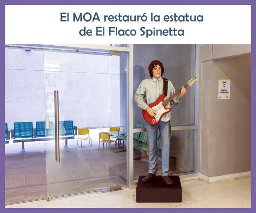 Restauración de la estatua de El Flaco Spinetta
